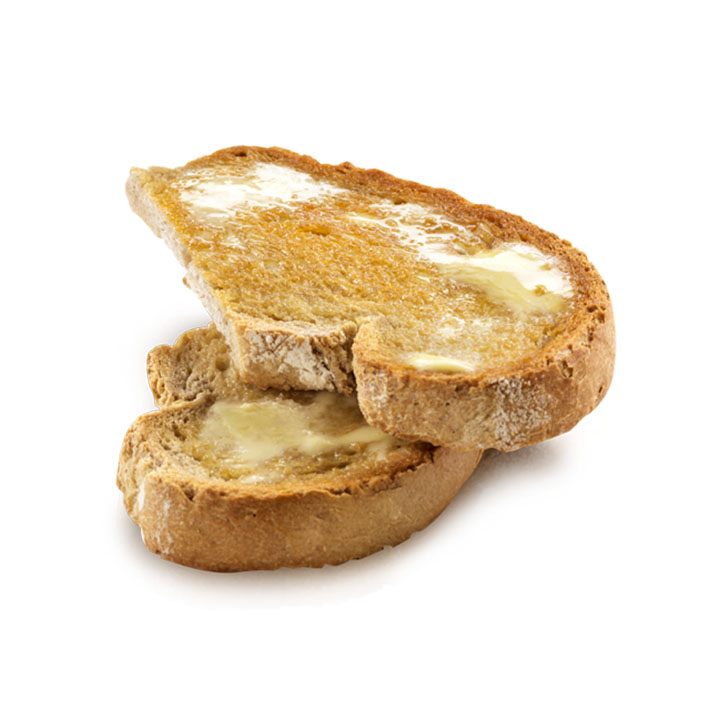 Meia torrada (com manteiga)