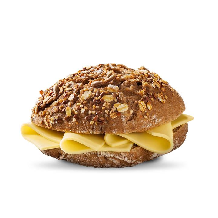 Pão de cereais com queijo